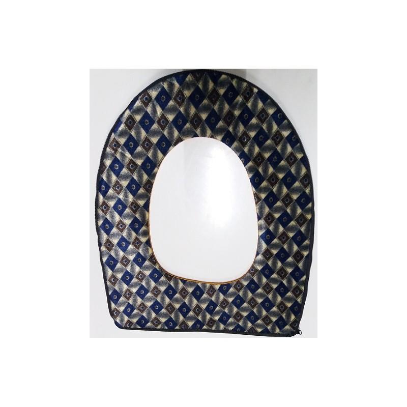 Potah na wc prkénko - modro-hnědý kosočtverec