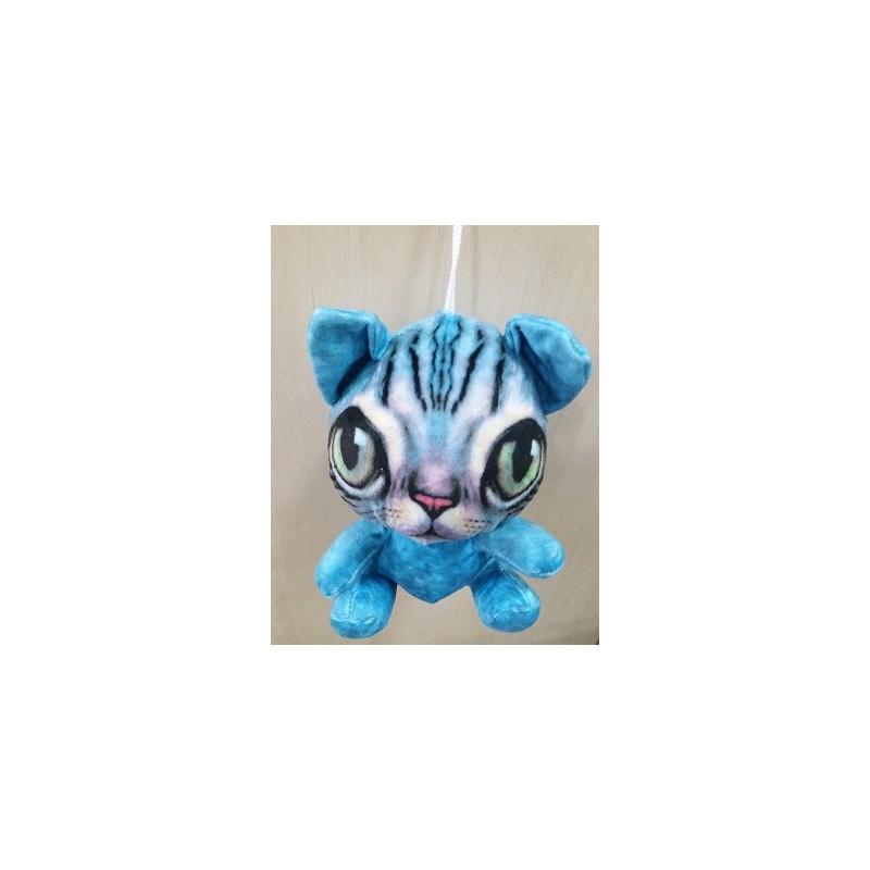 Plyšová kočka sedící 18cm
