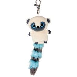 Lemur plyšový přívěsek na klíče modrý