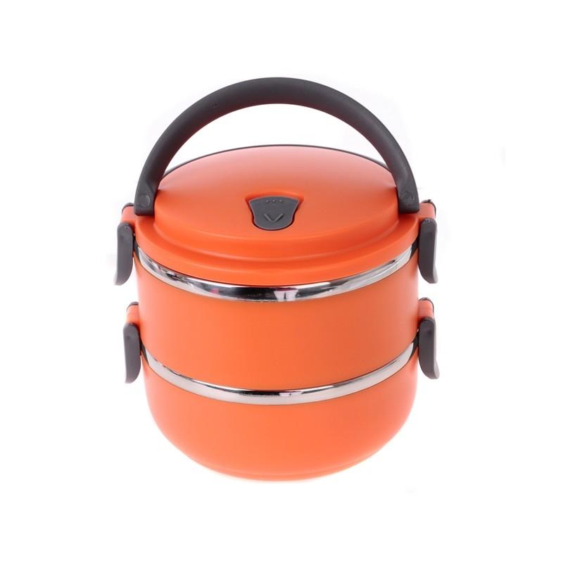 Smart Cook Termo Jídlonosič 2 patra - oranžový