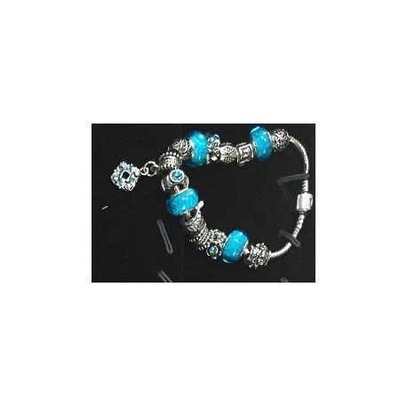 Náramek s kosočtvercem třpytivý modrý 06