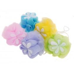 BEAUTY koupelová houba plastová - květinka
