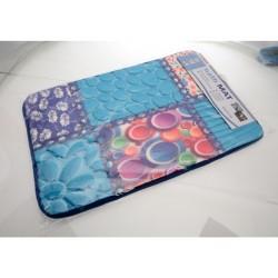 Unihouse Koupelnová předložka 40 x 60 cm modrá