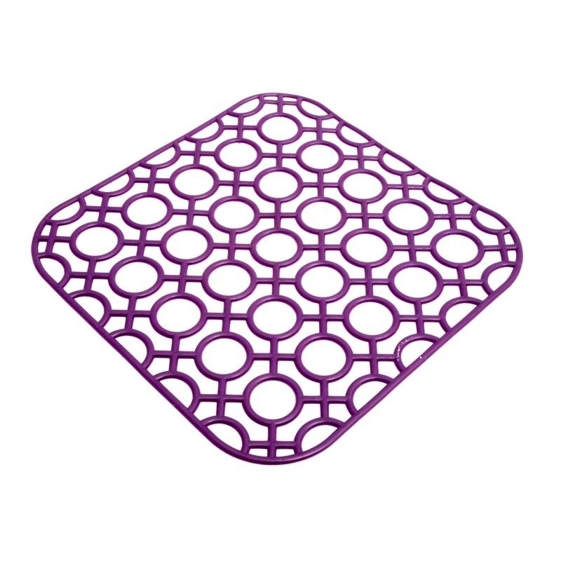 Unihouse Podložka do dřezu 27 x 27 cm fialová