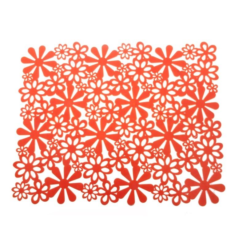 Podložka do dřezu KVĚTINA oranžová