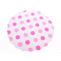 Univerzální podložka 3 ks 33cm kruhová růžový puntík