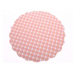 Univerzální podložka 3 ks 33cm kruhová modrý puntík