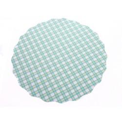 Univerzální podložka 3 ks 33cm kruhová modrý čtvereček