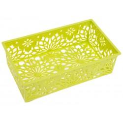 Unihouse Dekorační košík plastový 6 x 12 x 20 cm - zelený