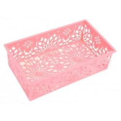 Unihouse Dekorační košík plastový 6 x 12 x 20 cm - růžový