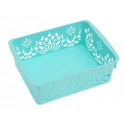 Unihouse Dekorační košík plastový 5 x 12 x 16 cm - modrý