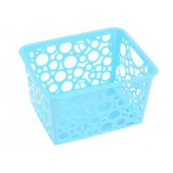 Unihouse Dekorační košík plastový 8 x 12 x 14 cm - modrý