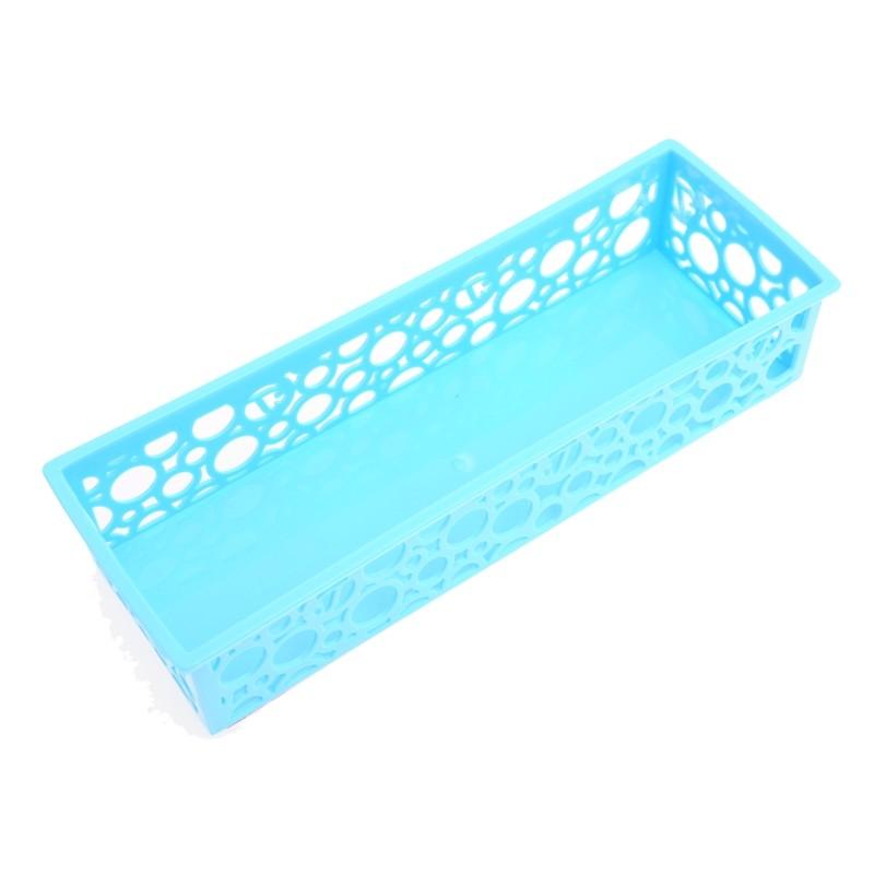 Unihouse Dekorační košík plastový 5 x 8 x 24 cm - modrý