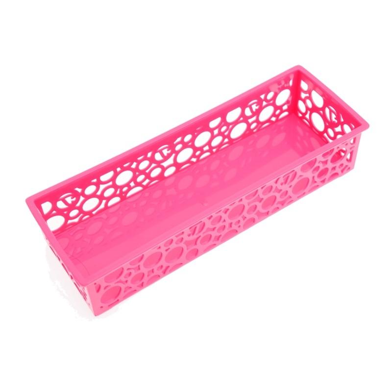 Unihouse Dekorační košík plastový 5 x 8 x 24 cm - růžový