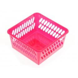 Unihouse Plastový košík 5 x 10 x 10 cm růžový