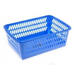 Unihouse Plastový košík 11 x 20 x 31 cm modrý