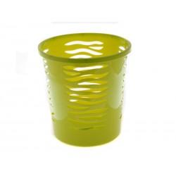 Unihouse Odpadkový koš kulatý zelený 10l