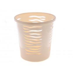 Unihouse Odpadkový koš kulatý krémový 10l