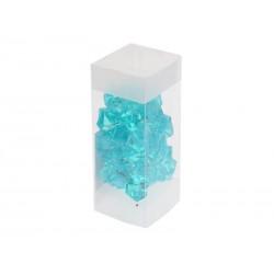 Unihouse Dekorativní kamínky plastové modré 100 g