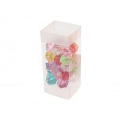 Unihouse Dekorativní kamínky plastové barevné 100 g