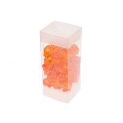 Unihouse Dekorativní kamínky plastové oranžové 100 g