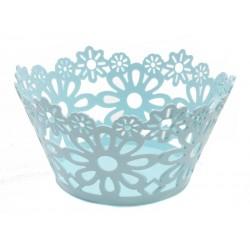 Unihouse plastový dekorační košík 22 x 11 cm modrý