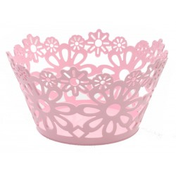 Unihouse plastový dekorační košík 22 x 11 cm růžový