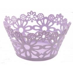 Unihouse plastový dekorační košík 25 x 13 cm fialový