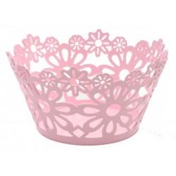 Unihouse plastový dekorační košík 25 x 13 cm růžový