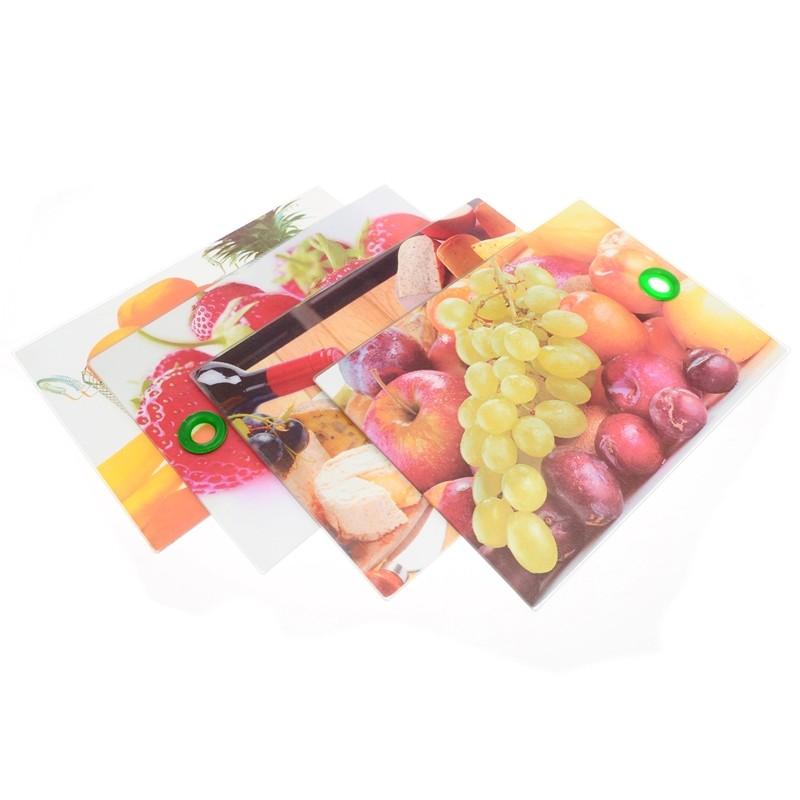 Smart Cook Krájecí deska skleněná 25 x 35 cm ovoce a zelenina