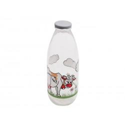 Smart Cook Skleněná láhev na mléko s potiskem 1l