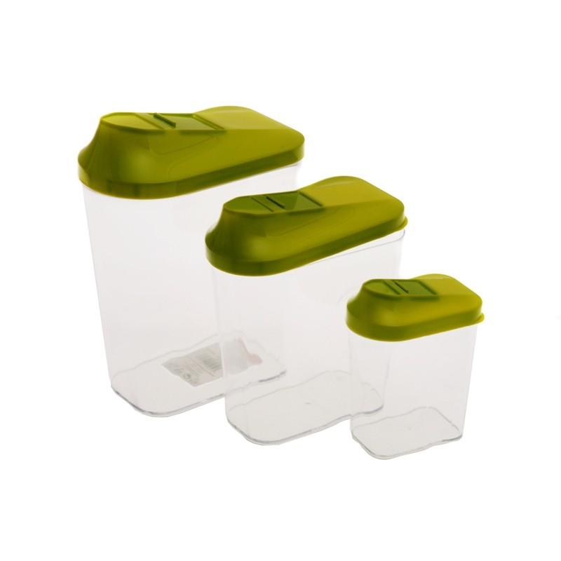Smart Cook Plastová dóza 3 ks zelená