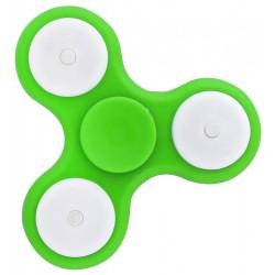 Antistresový Fidget Spinner 3 LED svítící zelený