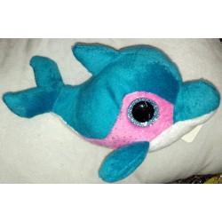 Plyšová rybička se třpytivýma očima modrá 15cm