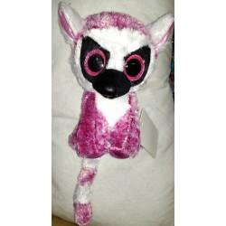 Plyšový lemur se třpytivýma očima růžový 15cm