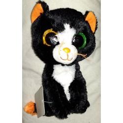 Plyšová kočička se třpytivýma očima černá 15cm