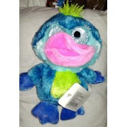 Plyšový kačer se třpytivýma očima modrý 15cm