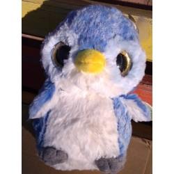 Plyšový tučňák se třpytivýma očima modrý 15cm