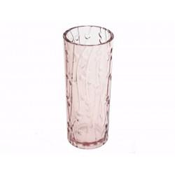 Unihouse Váza skleněná se vzorem větviček 8 x 19,5 cm