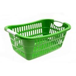 Unihouse Koš na prádlo plastový zelený 22 x 37 x 54 cm