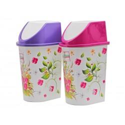 Unihouse Odpadkový koš plastový Květiny 21 l