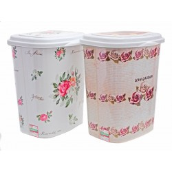 Unihouse Koš na prádlo plastový Růže 47 l