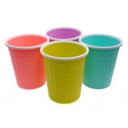 Unihouse Odpadkový koš plastový kulatý mix barev 26 x 30 cm