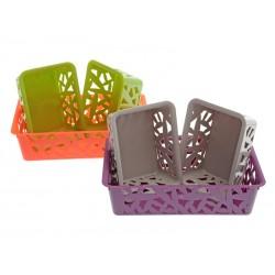 Unihouse Sada košíků plastových hranatých 3 ks