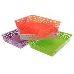 Unihouse Košík plastový hranatý nízký 6 x 26 x 34 cm