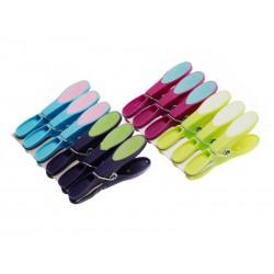 Unihouse Kolíčky na prádlo plastové dvoubarevné 8 cm, 12 ks