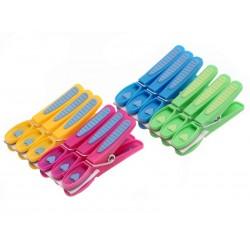 Unihouse Kolíčky na prádlo plastové se srdíčky 7,5 cm, 12 ks