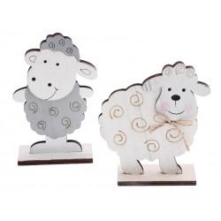 Dřevěná dekorace ovečka na podstavci 17,5 x 5 x 11,5 cm
