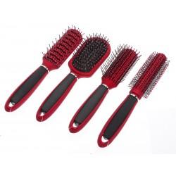 Unihouse Kartáč na vlasy 23 cm - červený