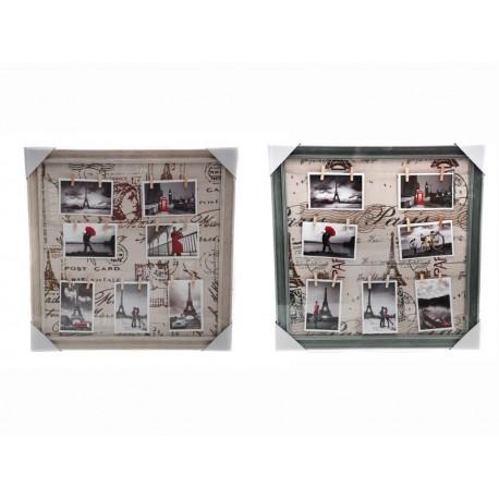 Unihouse Fotorámeček s 14-ti kolíčky čtverec 56 x 56 cm